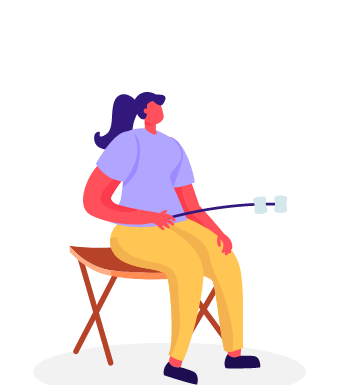 Relaxing illustration